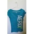 AUTHENTIC AEROPOSTALE  SHIRT FOR WOMEN BLUE STRIPES